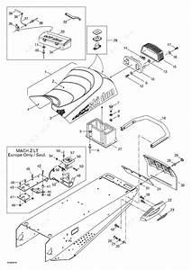 Ski Doo 1998 Mach Z - R  Seat And Accessories