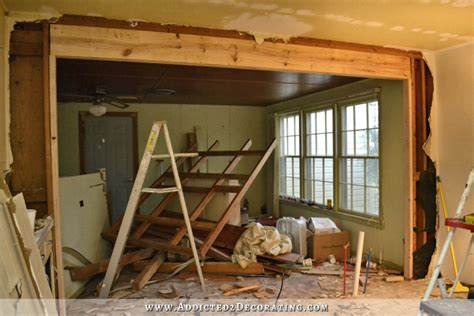 victory   load bearing wall removed load