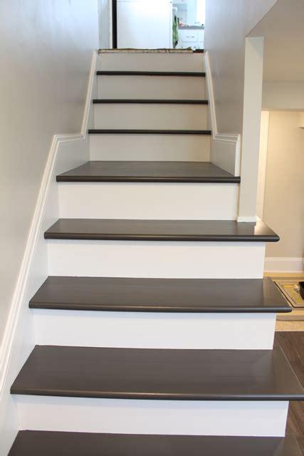 painting wood basement steps danks and honey