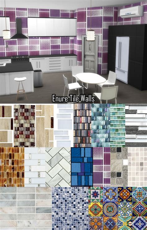 Enure Sims: Tile Wallpaper ? Sims 4 Downloads