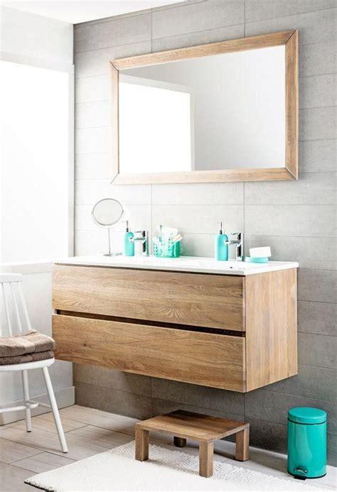 Waschtisch Zwei Waschbecken by Einem Schwimmenden Holzschrank Mit Zwei Schubladen Und