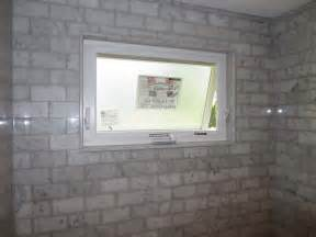 marble subway tile tub shower area with a window youtube