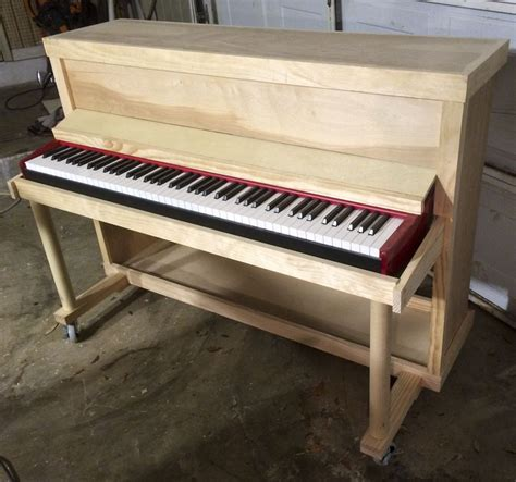 built custom upright shell  electric piano piano