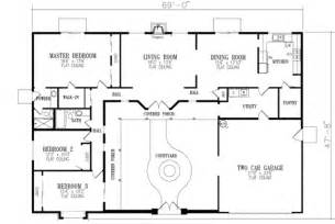 Genius U Shaped Home Plans by Ranch Style House Plan 3 Beds 2 Baths 1874 Sq Ft Plan 1 397