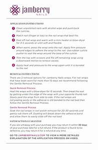Application Instructions For Jamberry Nails  English