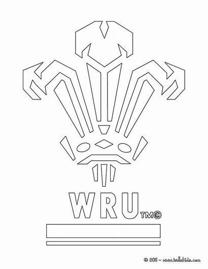 Rugby Coloring Pages Wales Flag Wru Team