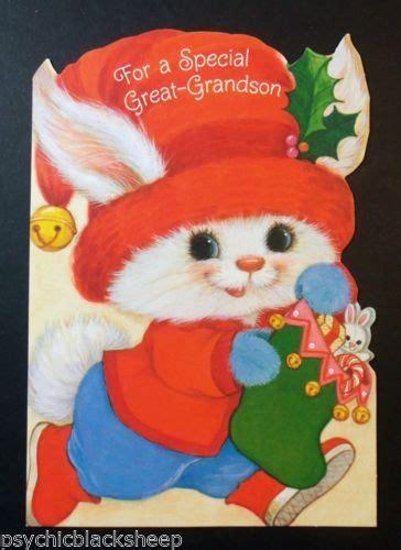 pin  animalcardsvintage christmas