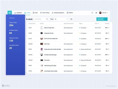 smart inventory management system design  koru ux design