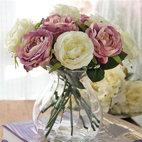 composizione di fiori finti in vasi di vetro decorazioni fiori finti piante finte decorare con i