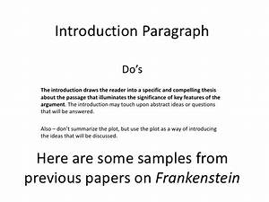 frankenstein thesis ideas