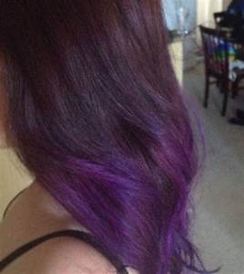 dark brown to purple ombre. my actual hair is a dream come ...