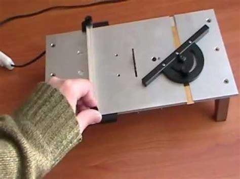Homemade Micro Table Saw Testibowbow