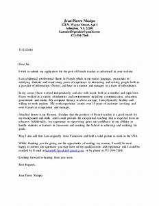cover letter french teacher With french letter openings