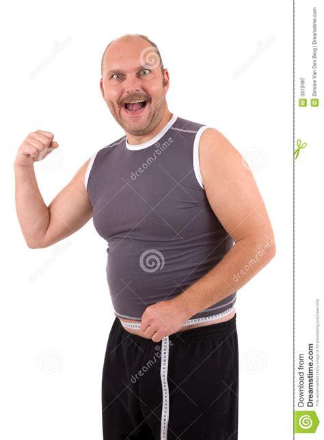 happy overweight man stock image image  balding happy