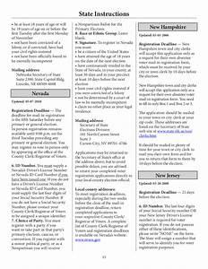 National Voter Registration Form - The U. S. Election ...
