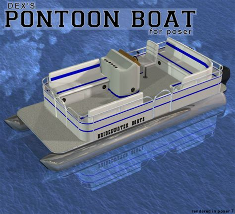 Catamaran Dex by Dex S Pontoon Boat Props For Poser And Daz Studio
