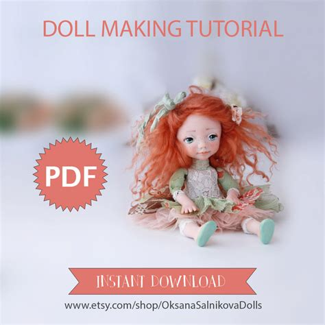 doll tutorial instant   guide doll making book art