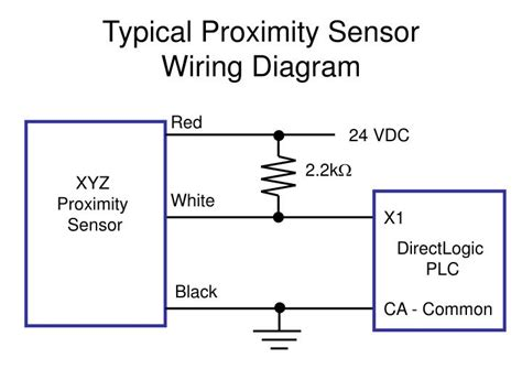 ppt typical proximity sensor wiring diagram powerpoint