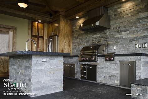 veneer outdoor kitchen platinum outdoor kitchen natural stone veneers inc
