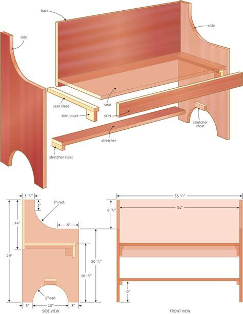 rustic bench woodworking plans woodshop plans