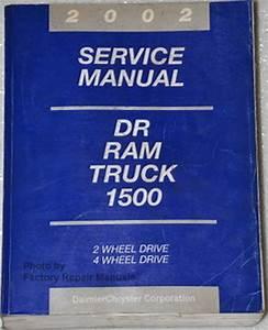 2002 Dodge Ram 1500 Truck Factory Shop Service Manual