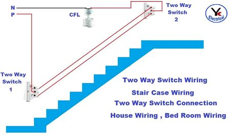 Two Way Switch Stair Case Wiring Electrical Youtube