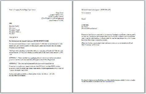 bureau dhl conference event invitation or visa letter business