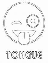 Tongue Coloring Pages Print sketch template