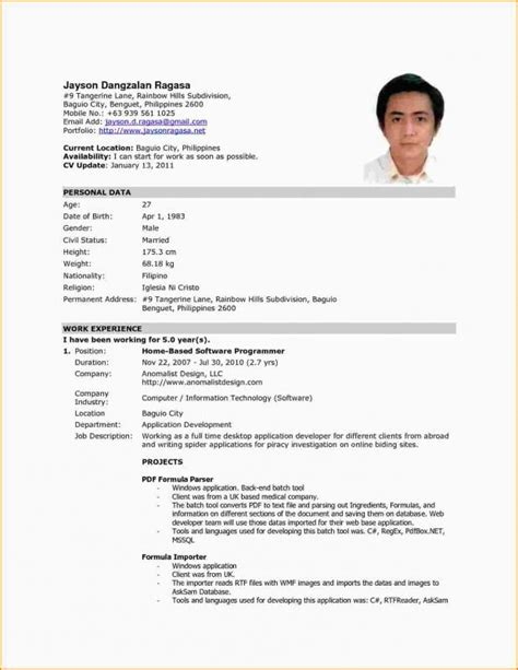 Sle Resume Format For Application by Resume Template College Student Template Sle Resume