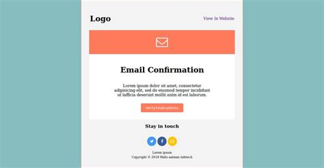 email confirmation responsive mail template desing mail