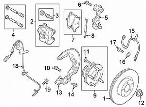 Ford Fusion Brake Hydraulic Hose  Right  Front  Line