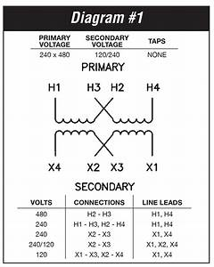 208 240 Volt Transformer Wiring Diagram