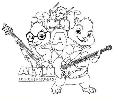 alvin   chipmunks  road chip coloring picture