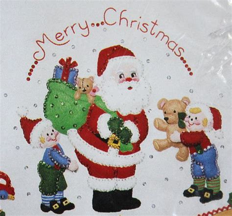 felt tree skirt pattern bucilla christmas felt kit
