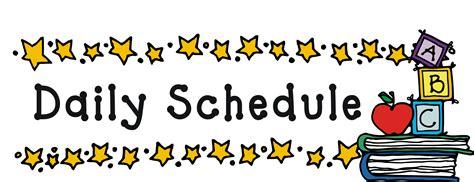 schedule clipart free bellando debbie fifth grade daily schedule