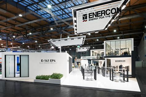 design messe enercon stand by ache stallmeier at hannover messe 2016 hannover germany retail design