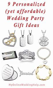 9 personalized yet affordable wedding party gift ideas for Wedding party gifts ideas