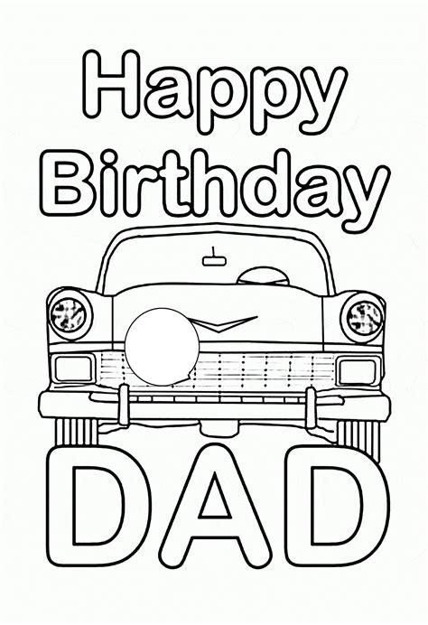 happy birthday dad coloring pages  educative printable