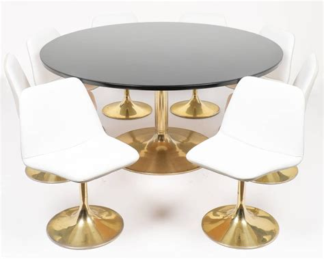 tulip table tulip table and chair dining set at 1stdibs
