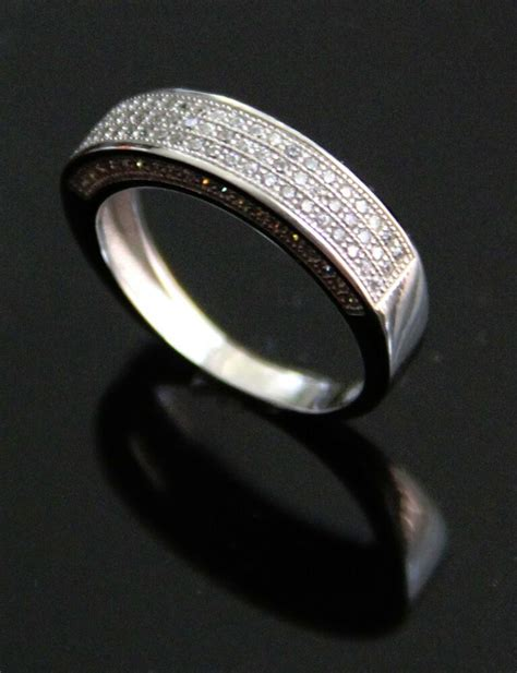 s s 925 sterling silver iced out lab wedding ring box ebay