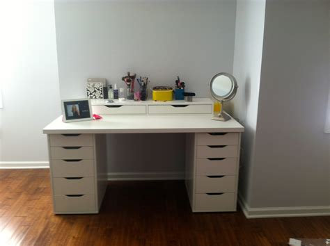 desk and vanity combo ideas bedroom luxurious white makeup vanity with drawers for