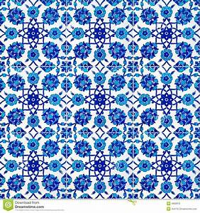 Floral Pattern On Old Turkish Tiles, Istanbul - Download ...