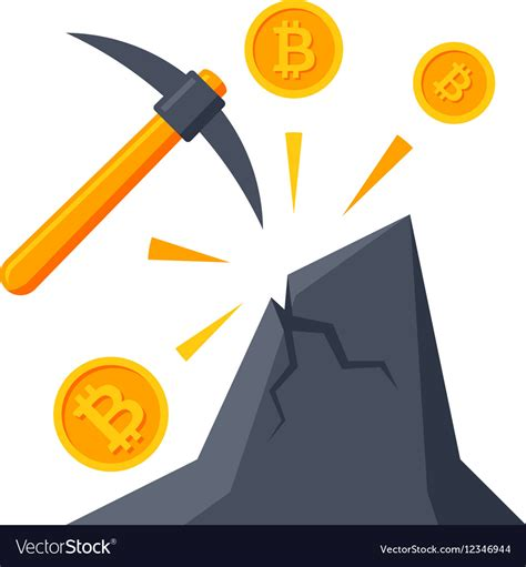 Free bitcoin icon vector download in ai, svg, eps and cdr. Bitcoin Mining Icon Royalty Free Vector Image - VectorStock
