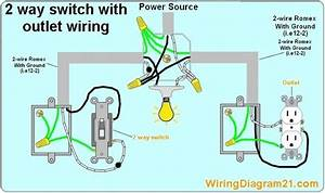 Electrical Outlet 2 Way Switch Wiring Diagram