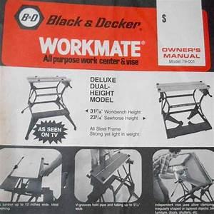 Vintage 1978 Black  U0026 Decker Workmate All Purpose Work