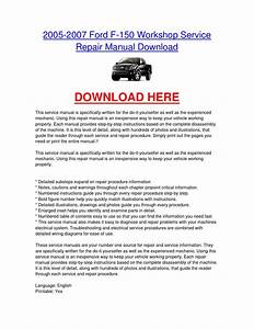 2005 2007 Ford F 150 Workshop Service Repair Manual