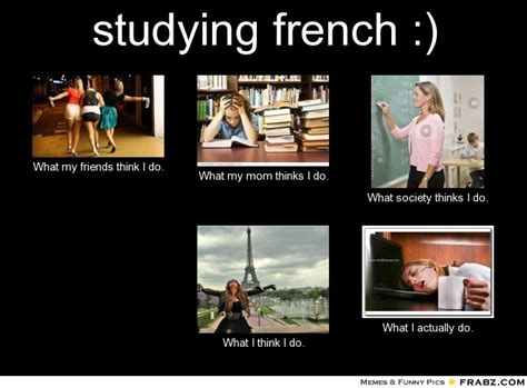 Meme In French - studying french meme generator what i do