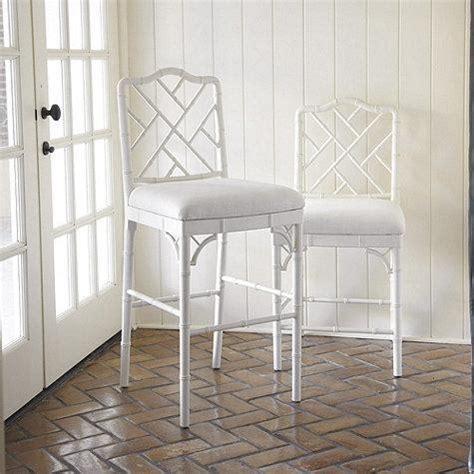 terra bamboo swivel counter height bar stool  white