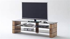 Tv Board Glas : tv rack kari tv board lowboard in eiche massiv glas grau 160 ~ Whattoseeinmadrid.com Haus und Dekorationen