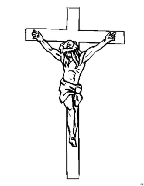 jesus  kreuz haengend ausmalbild malvorlage religion